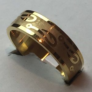 Other - Sz 11 Stainless Steel (Gold Tone) Ring W/Fish Hook